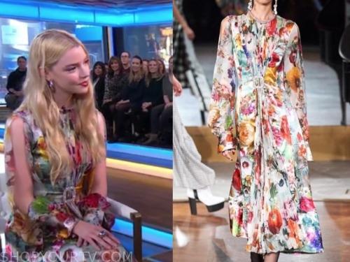 anya taylor-joy, gma, floral dress