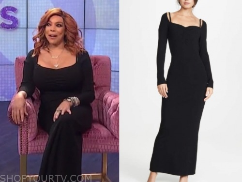 wendy williams, the wendy williams show, black knit dress