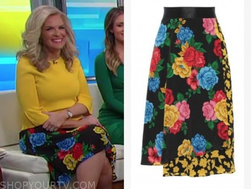 janice dean, fox and friends, floral skirt