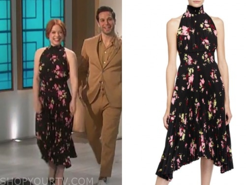 jane levy, the talk, floral halter midi dress
