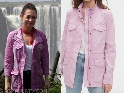 ginger zee, pink utility jacket, gma