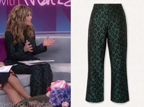 maria shriver, green leopard pant suit, the today show