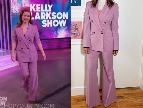 jane levy, the kelly clarkson show, purple pant suit