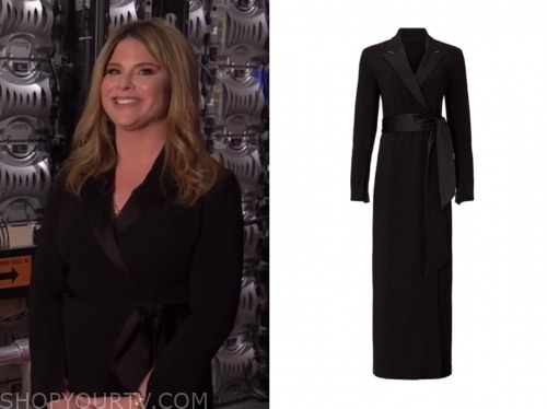 jenna bush hager, the today show, black wrap maxi dress