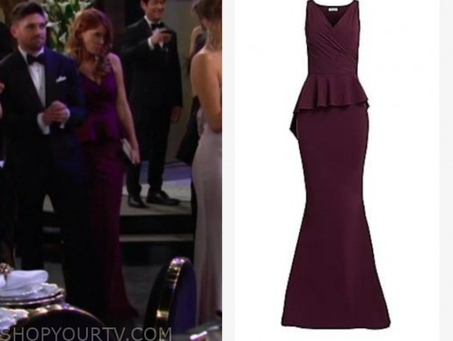 phyllis newman, michelle stafford, the young and the restless, burgundy gown