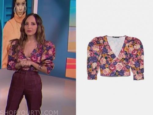 lilliana vazquez, e! news, floral crop top