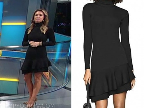 jillian mele, black turtleneck dress, fox and friends