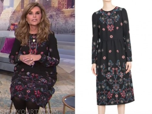 maria shriver, the today show, embroidered dress