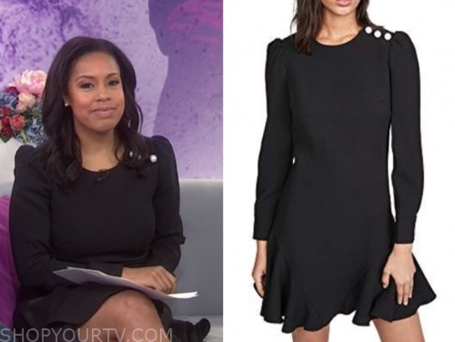 sheinelle jones, the today show, black pearl dress