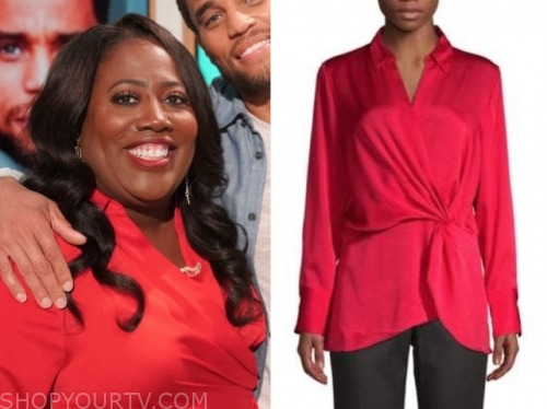 the talk, sheryl underwood, red blouse
