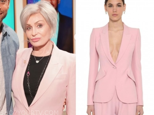 sharon osbourne, the talk, pink blazer