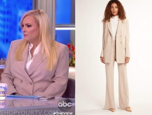 the view, beige double breasted pant suit, meghan mccain