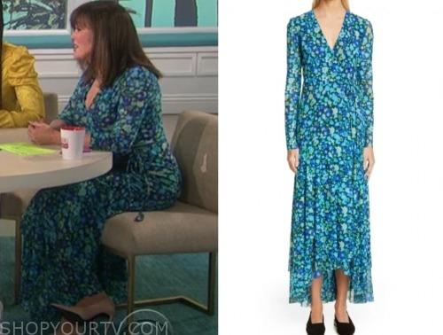 marie osmond, blue floral maxi dress, the talk
