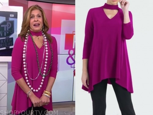 hoda kotb, the today show, pink choker cutout top