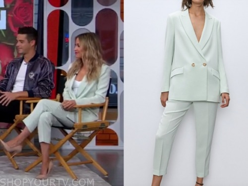 kaitlyn bristowe, mint green blazer and pant suit, gma3