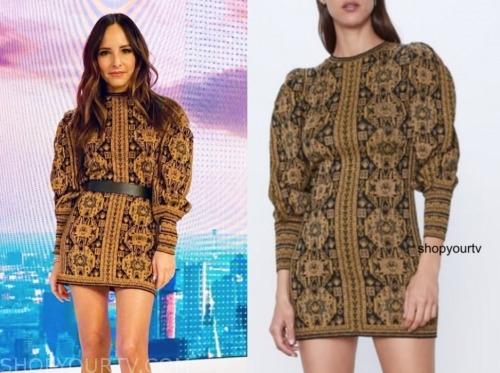 E! news, lilliana vazquez, jacquard dress