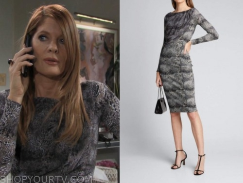 phyllis newman, michelle stafford, the young and the restless, snakeskin dress,