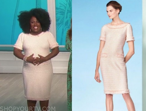 sheryl underwood, the talk, tweed sheath dress