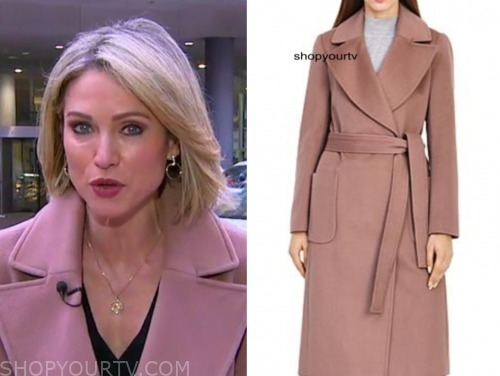 amy robach, good morning america, pink coat