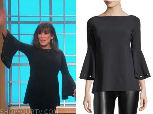 marie osmond, the talk, black bell sleeve top