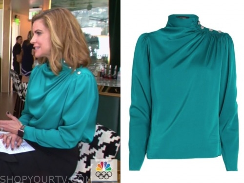 natalie morales, teal blouse, the today show