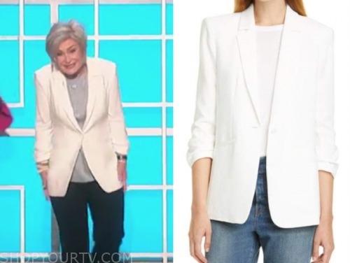 sharon osbourne, the talk, white blazer