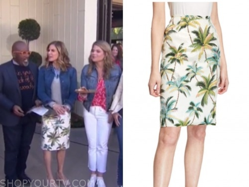 the today show, palm tree skirt, natalie morales