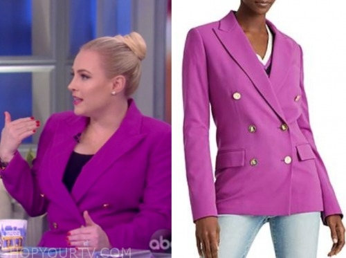 meghan mccain, the view, purple double breasted blazer