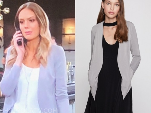 the young and the restless, abby newman, melissa ordway, grey blazer