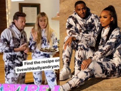 ryan seacrest, live with kelly and ryan, tie dye sweatshirt and sweatpants