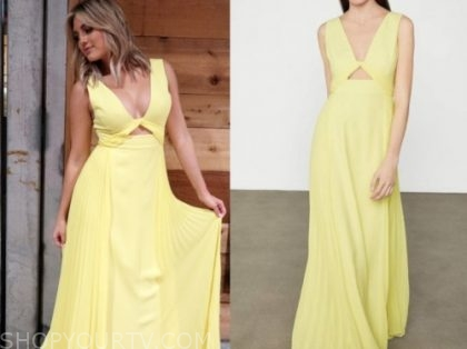 giannina gibelli, love is blind, yellow maxi dress