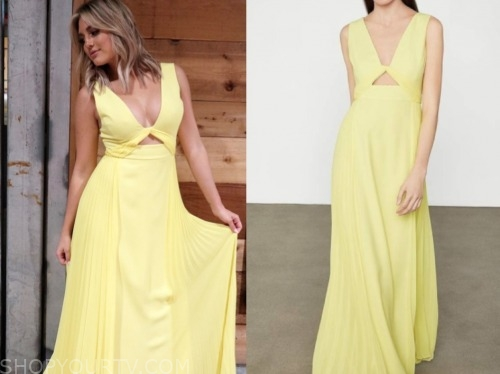 giannina gibelli, love is blind, yellow maxi dress