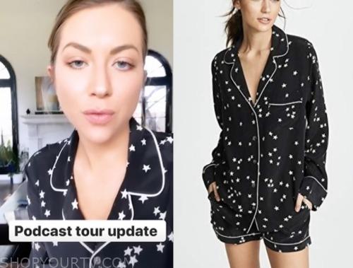 stassi shredder, vanderpump rules, star printed pajamas