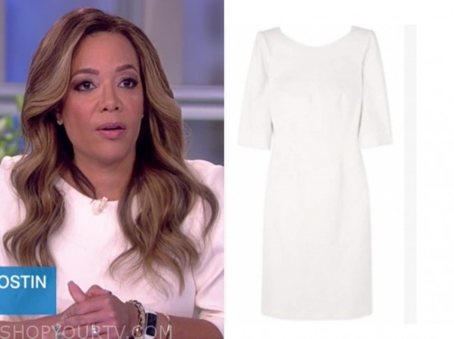 sunny hostin, the view, white sheath dress