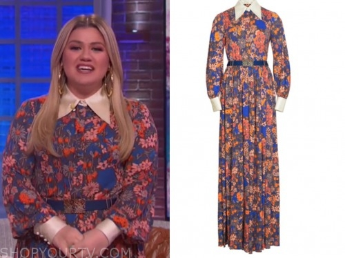 kelly clarkson, the kelly clarkson show, floral collar jumpsuit