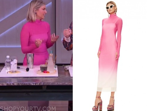 ariana madix, the kelly clarkson show, pink ombre turtleneck dress