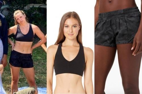 hannah brown, the bachelorette, black sports bra, camouflage shorts