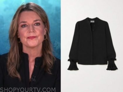 savannah guthrie, black blouse, the today show