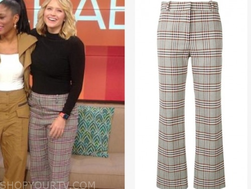 the rachael ray show, sara haines, plaid pants