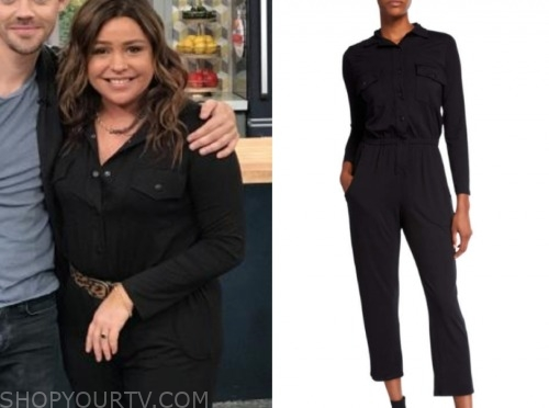 rachael ray, the rachael ray show, black jumpsuit