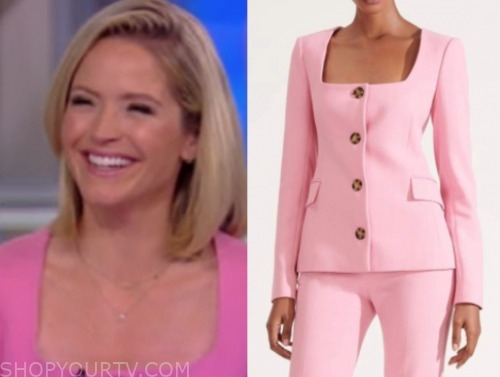 sara haines, the view, pink jacket