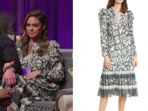 vanessa lachey, love is blind reunion, printed dress