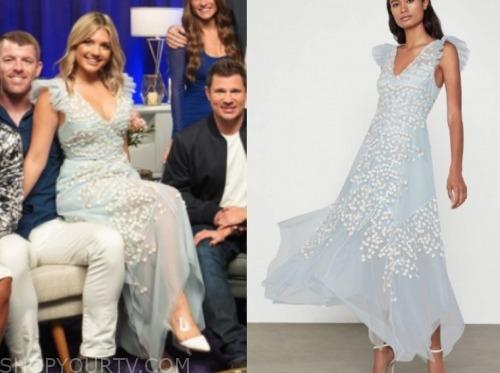 giannina gibelli, reunion, love is blind, blue tulle dress