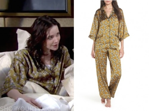 tessa porter, cait fairbanks, teriah, green pajamas, the young and the restless