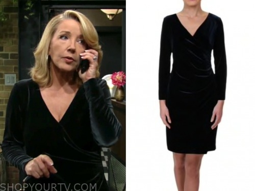 nikki newman, melody thomas scott, velvet dress, the young and the restless
