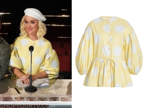 katy perry, american idol, yellow top