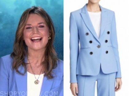 savannah guthrie, blue blazer, the today show