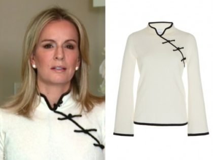 dr. jennifer ashton, contrast trim sweater, good morning america