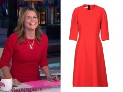 savannah guthrie, the today show, red dress