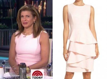 the today show, hoda kotb, pink dress
